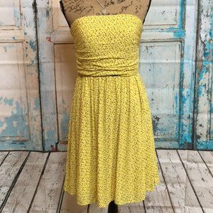 DKNY Yellow Strapless Confetti Party Y2K Dress 6